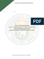 Viden Io Du Ba Pol Sc Hons Notes Kopal Chaube Ecological Approach to Public Administration Final PDF