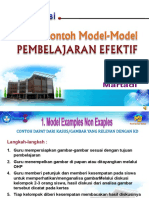 Contoh-contoh MODEL PEMBELAJARAN INOVATIF