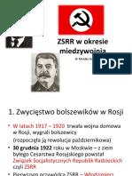ZSRR w okresie międzywojennym