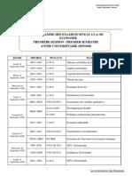 Programme des examens_L3 et M1_Economie_2019-2020_Session 1_VD
