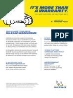 MDP43887 Mileage Warranty Flyer Quick Guide