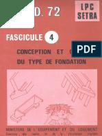 04 CONCEPTION ET CHOIX DU TYPE DE FONDATION