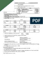Cas ALPHA -Budgets de synthèse - Enoncé