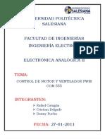 Control de Motor y Ventilador Pwm Con 555