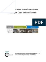 Recommendations for the Determination of lifecycle costs for road tunnels