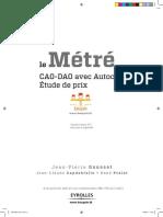 Le métré CAO-DAO avec Autocad - Etude de prix