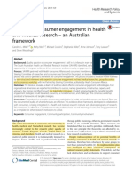 integrating consumer engagement in health