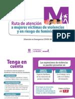 Ruta de atención a mujeres víctimas de violencias y en riesgo de feminicidio (Durante la cuarentena) .pdf