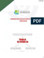 ADMINISTRACION DE PROYECTOS PERT-CPM 2020