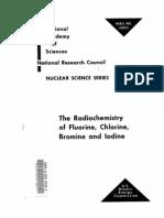 The Radio Chemistry of Fluorine, Chlorine, Bromine and Iodine.us AEC
