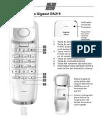 Manual Teléfono Inalámbrico Gigaset DA210