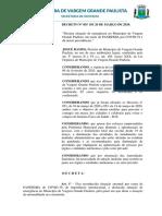 COVID - Prefeitura de VGP - Decreto 055