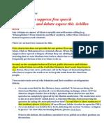 Why Islamists Repress Free Speech