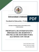 2016, Maria Muñoz Gonzales TDAH