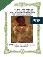 XVII Domingo Después de Pentecostes.- Guía de los fieles para la santa misa cantada. Kyrial Orbis Factor