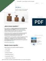 Peso Específico - Concepto, ejemplos y relación con densidad