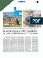La suma vence a la resta y los colegios de Lalueza, San Lorenzo y Sesa Crecen