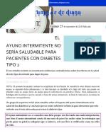 El Ayuno Intermitente Noticia-RETO #6