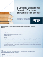 5 Different Educational Behavior Problems Encountered in Schools
