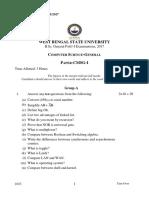 CMSG-I B.Sc. General PART-I Examinations, 2017