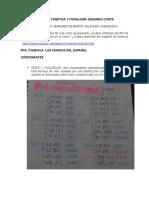 PARCIAL FONÉTICA Y FONOLOGÍA SEGUNDO CORTE