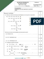 Devoir de Synthèse N°3 - Sciences physiques - 2ème Sciences (2013-2014) Mr chaabane
