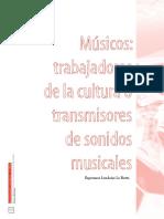 Músicos trabajadoras de la cultura o transmirores de sonidos musicales_Esperanza Londoño