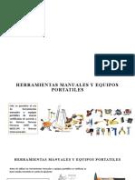 HERRAMIENTAS MANUAES Y EQUIPOS PORTATILES