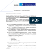 Orientações para apresentação do TCC em Direito 2019_2