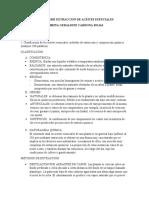 PREINFORME EXTRACCION DE ACEITES ESENCIALES