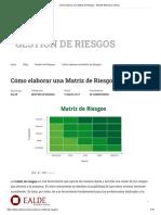 Cómo elaborar una Matriz de Riesgos.pdf