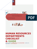 hrdepartent guide and check list