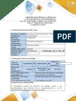 Guía de actividades y rúbrica de evaluación-Paso 2- Regulación emocional y cognición social