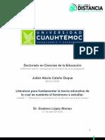 Actividad 2.1._Literatura para fundamentar la teoría educativa de la cuál se sustenta el fenómeno a estudiar_Cataño_Julián