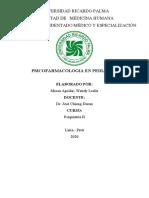 MONOGRAFIA PSICOFARMACOS PEDIATRIA