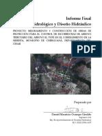 INFORME HIDROLOGICO E HIDRAULICO CANAL LA SIERRITA