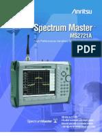 ANRITSU MS2721A SPECTRUM MASTER 11410-00332