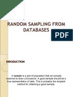 Random Sampling From Databases
