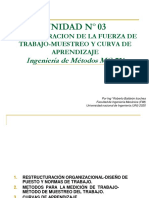 Unidad N° 03 Administracion de la Fuerza de Trabajo-Muestreo y Curva de aprendizaje.