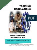 TR - Pest Management (Vegetables) NC II