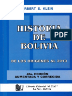 KLEIN Historia-de-Bolivia