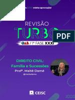 RT31 - Direito Civil - Família e Sucessões - Profª. Maitê Damé