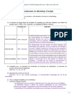 TD1 Corrigé Les Fondements du Marketing L1 SED 2020 UAO Dr TRAORE Allakagni Bernard