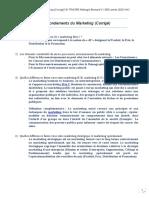 TD2 Corrigé Les Fondements du Marketing L1 SED 2020 UAO Dr TRAORE Allakagni Bernard