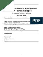 EDUCACIÓN HOLISTA  RAMÓN GALLEGOS NAVA  7