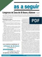 SG20 Congresos de Zona de Al‑Anon y Alateen