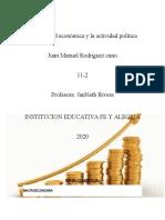 La actividad económica y la actividad política