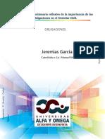 Análisis y cuestionario reflexivo de la importancia de las obligaciones en el Derecho Civil