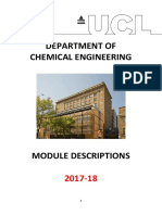 UCL Chemical Engineering Module descriptions