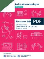 Chiffres cles Commerce 2016 - Rennes Metropole